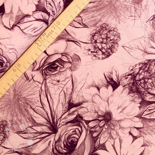 "Isoli ""Basel"" Blomster lyserød"