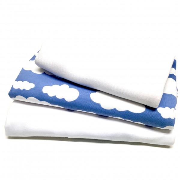 """10% SPAR-PAKKE Jersey """"Clouds"""" blå"""