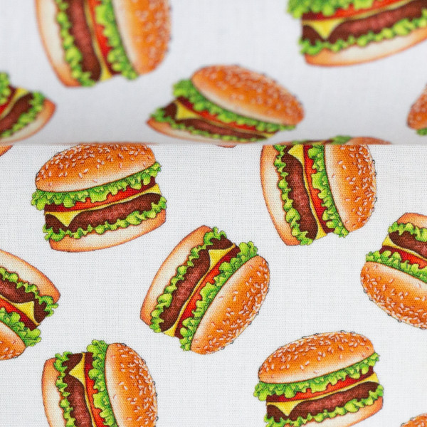 "Bomuld ""Kim"" Burger hvid"