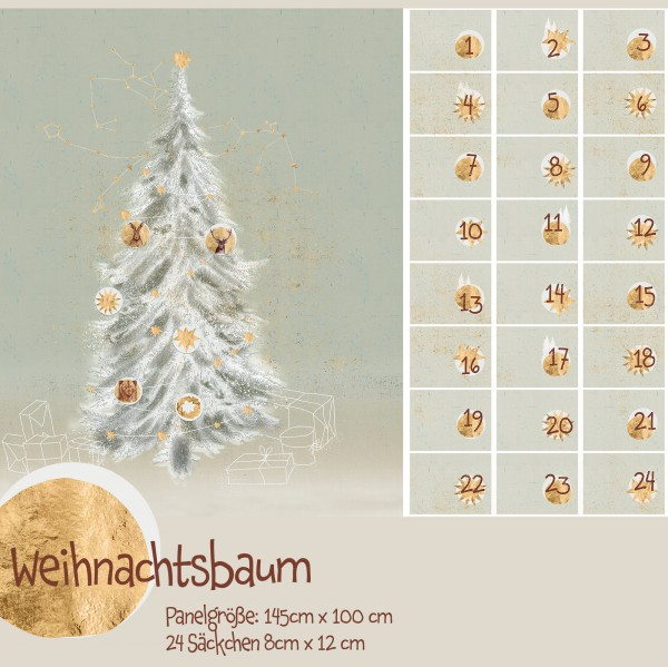 "100 cm BIO-Bomuld-Panel ""Weihnachtsbaum"" fra Tante Gisi"