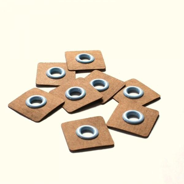 4 Snøreringe til påsyning lyseblå Ø 8mm