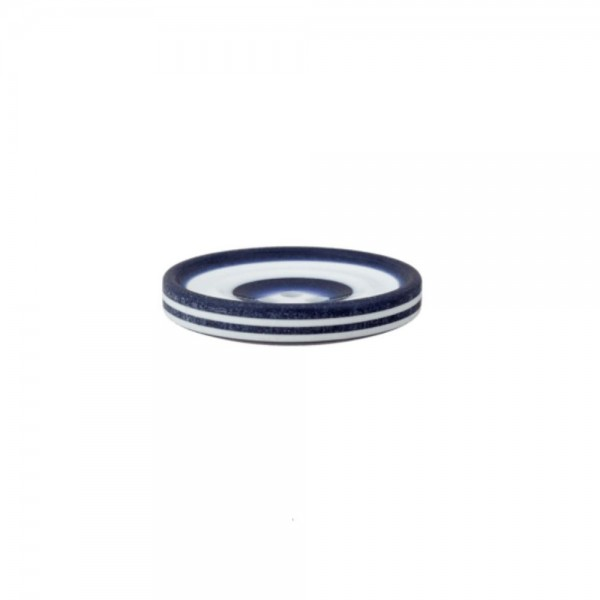 """2-hul-polyester-knap """"Down by the sea"""" 20 mm"""