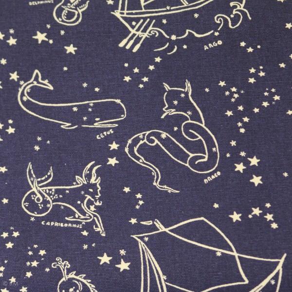 """BIO-Canvas """"Saltwater"""" dewm09 fra Birch Fabrics"""