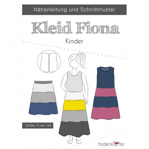 "Snitmønster Kids-Kjole ""Fiona"" str 74 - 164"