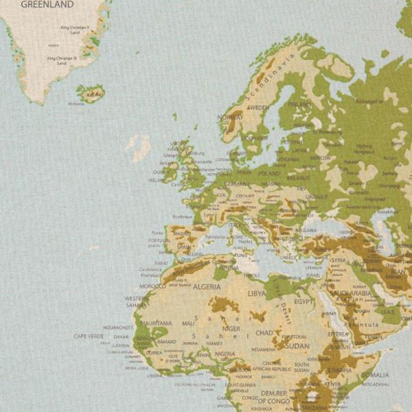 "Dekostof ""Emilia"" verdenskort"