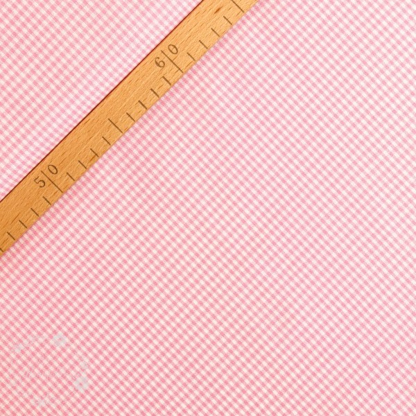 Bomuld ternet lyserød/hvid