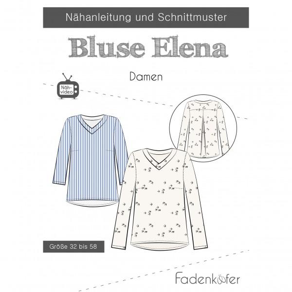 "Snitmønster Dame-Bluse ""Elena"" str 32 - 58"