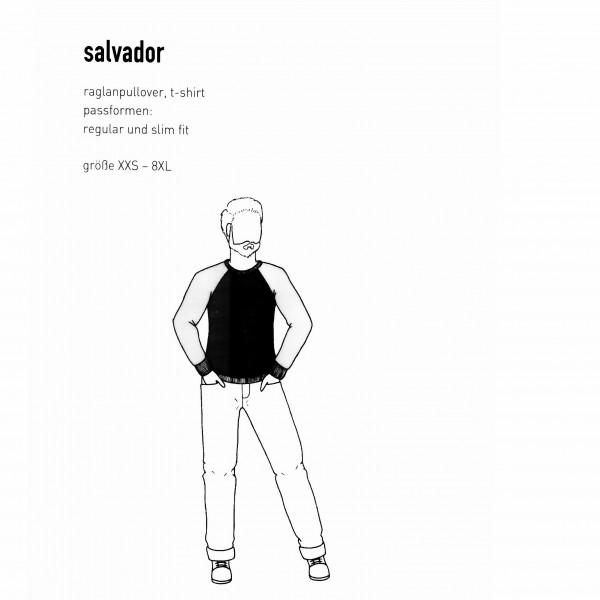 """Snitmønster Herre-Pullover """"Salvador"""" str XXS - 8 XL"""