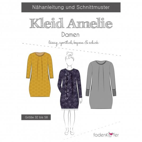 "Snitmønster Kjole ""Amelie"" Dame str 32 - 58"